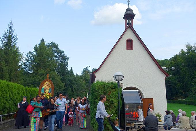 Der Abschluss des Festes fand am Urheiligtum, der Gnadenkapelle in Schönstatt/Vallendar statt (Foto: Pilgerzentrale)