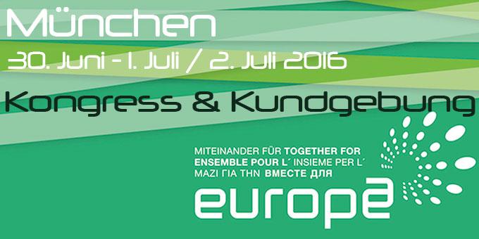 Kongress und Kundgebung (Foto: Miteinander für Europa)