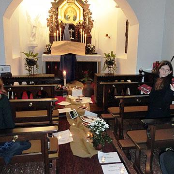 Alle Überlegungen werden im Heiligtum geteilt (Foto: Birringer)
