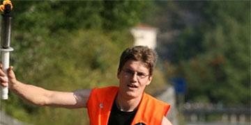 Fackelläufer beim Fackellauf der Schönstatt-Mannesjugend im Jahr 2009 (Foto: fackellauf2009)