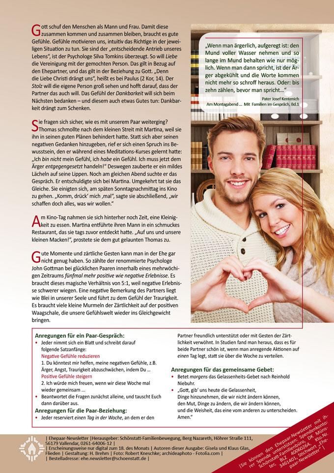 """Die Macht der Gefühle. Ehepaar-Newsletter """"Wir zwei - Immer wieder neu"""" (Foto: © ARochau - Fotolia.com)"""