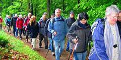 30 Personen waren trotz weniger guten Wetters bei der Pilgertour dabei (Foto: Gehling)