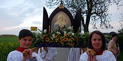 Die Königin der Neuevangelisierung besucht auf ihrer Tour durch Bayern  die Pfarrei Pless-Fellheim (Foto: ProjektPH)