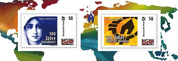 Die Portocard enthält zwei Marken zu 58 Cent (Gestaltung: T. Brehm)
