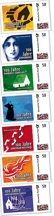 Schönstatt-Briefmarken zum Jubiläum 2014 (Gestaltung: T. Brehm)