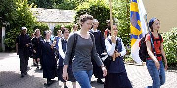 Ankunft am Urheiligtum in Schönstatt (Foto: Stewart)