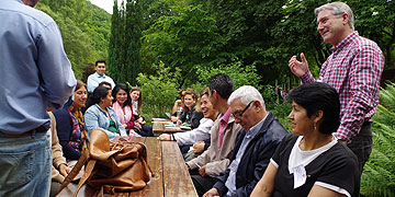 Austausch in Kleingruppen - persönliche Lebens- und Glaubenserfahrungen werden weitergegeben (Foto: Pilgerzentrale)