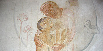 Malerei in der Zelle Karl Leisners in Marienthal (Foto: Schulte)