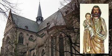 Statue des heiligen Josef in der Pfarrkirche St. Josef in Koblenz (Foto: Wikipedia, 4028mdk09)