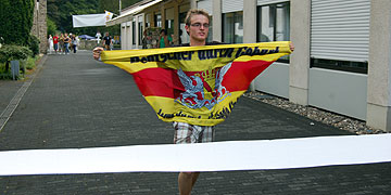 Geschafft! Der letzte Einläufer des zweiten Schönstatt-Minimarathons (Foto: Brehm)