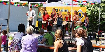 Beim internationalen Fest der Begegnung 2012 gab es einen Trommelworkshop (Foto: AMB)