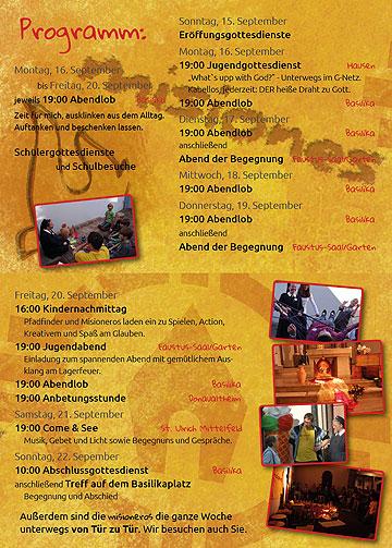 Programm der Misiones 2013 in Dillingen