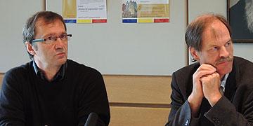 Die Musical-Macher: Wilfried Röhrig, Viernheim (r.) und Hans-Werner Scharnowski, Schalksmühle (Foto: Vilches)