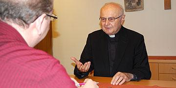 Erzbischof Zollitsch im Interview mit Michael Defrancesco, Rhein-Zeitung Koblenz (Foto: Brehm)