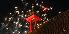 """Ein Feuerwerk zur Eröffnung des Jubiläumsjahres """"100 Jahre Schönstatt"""" (Foto: Defrancesco)"""