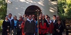 Aufbruch zum Pilgerweg nach Schönstatt am Heiligtum auf der Marienhöhe (Foto: Fella)