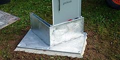 Die Fundamente für den neuen Eheweg in Schönstatt sind gesetzt (Foto: Leibold)