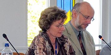 Moderation: Maria und Dr. Ullrich Wolf, Eberbach, Institut der Schönstattfamilien (Foto: Hornung)