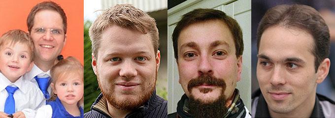 Christoph Götz, Johannes Müller, David Fischer, Johannes Link (Fotos: privat)
