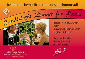 Prospekt-Cover: Candlelight Dinner im Haus der Familie, Schönstatt