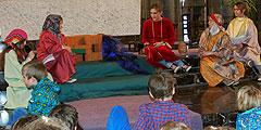 Rollenspiel zum Evangelium von der Frau am Jakobsbrunnen (Foto: SAL)