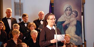 Grußwort: Schwester M. Veronika Riechel  (Foto: Brehm)