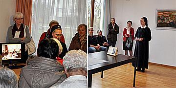Auf Gründerspuren im damaligen Speiseraum der Priester und im Konferenzraum (Foto: SAL)