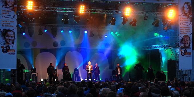 Konzert mit den Wise Guys im Stadion der Universität (Foto: Brehm)