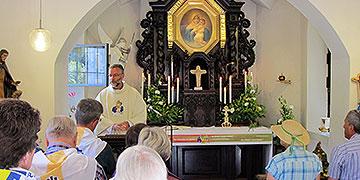Gottesdienst im Urheiligtum, in der Gnadenkapelle in Schönstatt (Foto: Wehrle)