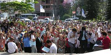 Große Frühlingswallfahrt in Santa Maria, Brasilien (Foto: Projekt Pilgerheiligtum)