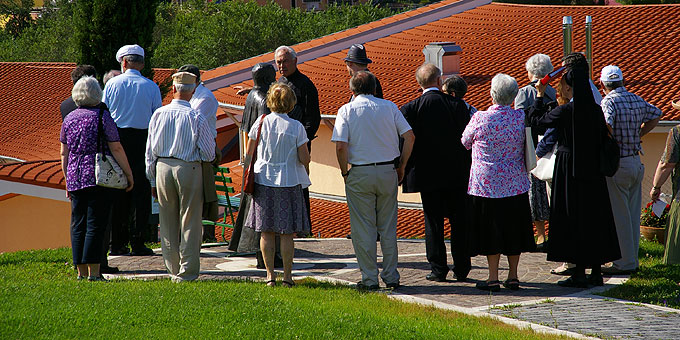 Das Generalpräsidium informiert sich über den Ausbau-Stand des Schönstatt-Zentrums Belmonte, Rom (Foto: Neiser)
