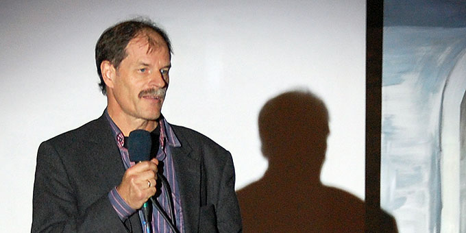 """Wilfried Röhrig, hier bei der Uraufführung des Musicals """"Auf dem Hochseil"""" (Foto: Brehm)"""