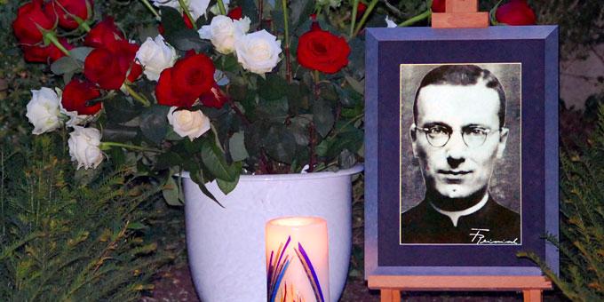 Gedenken an Franz Reinisch (Foto: Brehm)
