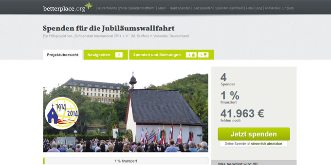 Website betterplace.org