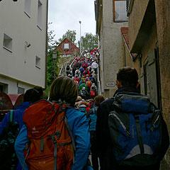 Durch die engen Gassen von Rottenburg (Foto: Hirscher)