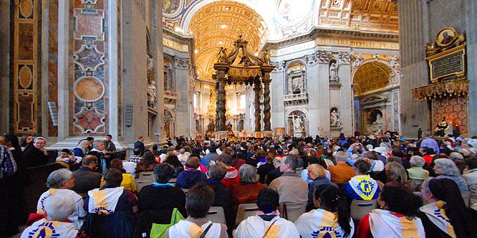 Schönstatt-Bewegung feiert Aussendungsgottesdienst im Petersdom in Rom (Foto: Brehm)