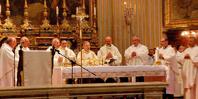 Deutschsprachiger Gottesdienst mit Walter Kardinal Kasper in der Kirche St. Andrea della Valle, Rom (Foto: Brehm)