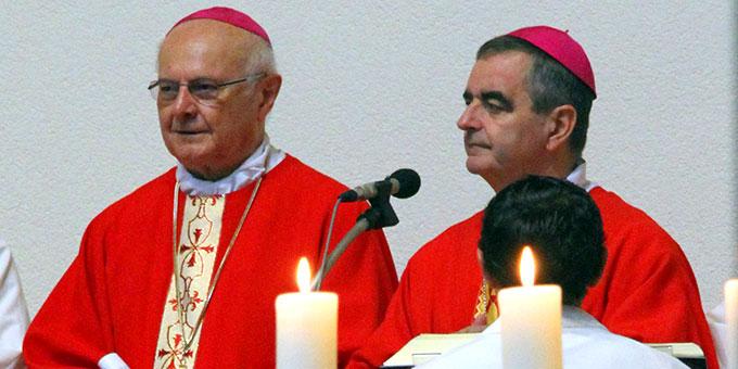 Erzbischof Dr. Nikola Eterovic, Apostolischer Nuntius in Deutschland (rechts) und Erzbischor em. Dr. Robert Zollitsch (Foto: Lilek)