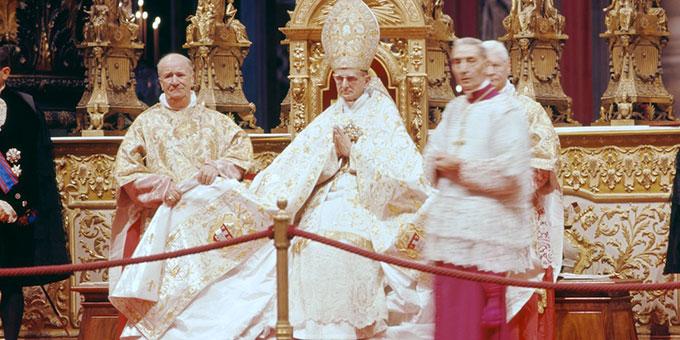 Papst Paul VI. beim Zweiten Vatikanischen Konzil (Foto: Lothar Wolleh, wikipedia)