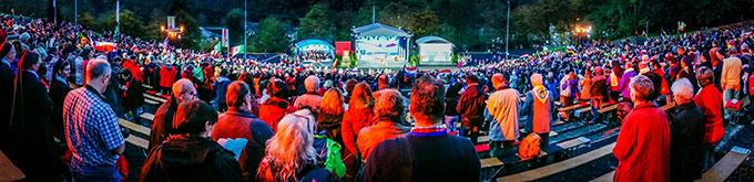 Eröffnungsgottesdienst der internationalen Jubiläumswallfahrt nach Schönstatt  (Foto: Tobias Brehm)