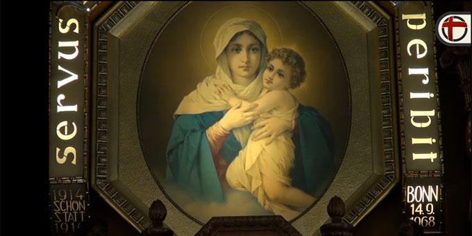"""Kuller: """"Die Gottesmutter hat sich mit diesem Bild durch Schönstatt berühmt gemacht"""" (Foto: katholisch.de)"""