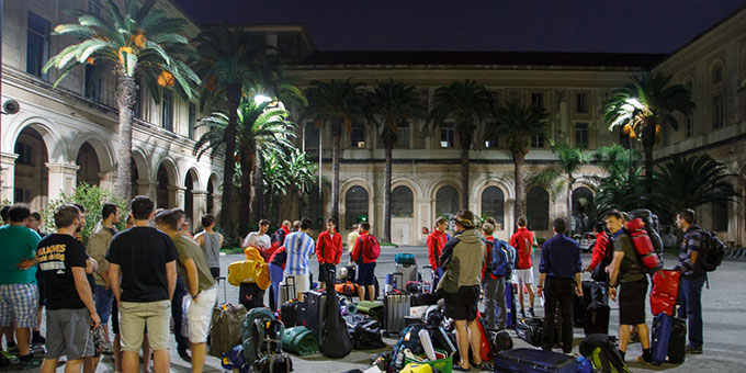 Pompeji: Von hier aus wird der Fackellauf starten (Foto: fackellauf2014.org)