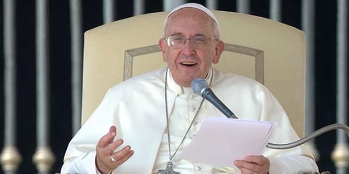 Mittwochsaudienz mit Papst Franziskus (Foto: CTV-Ausschnitt)