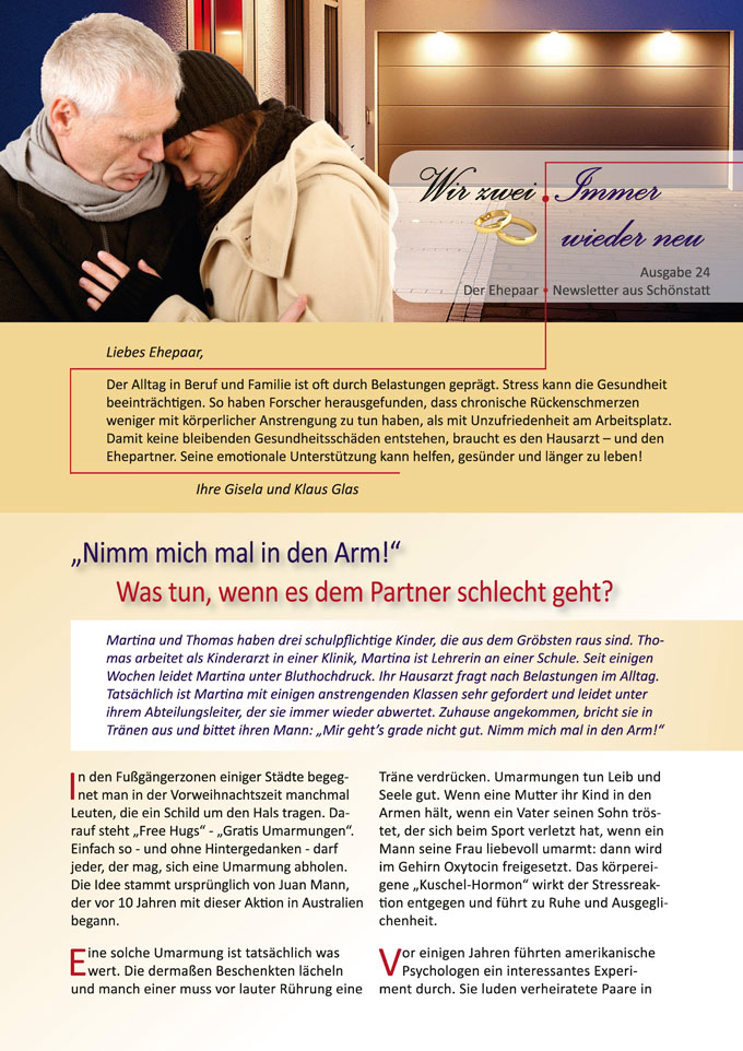 "Ehepaar-Newsletter 12/2014 ""Wir zwei - Immer wieder neu"" S.1 (Foto: © K.-P. Adler - fotolia.com)"