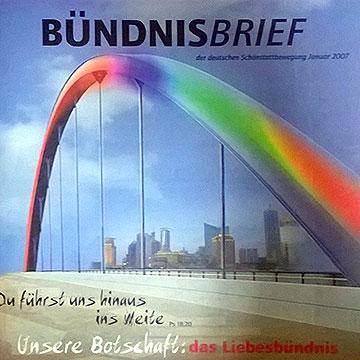 Cover Bündnisbrief 2007 (Gestaltung: Hildegard Hug)