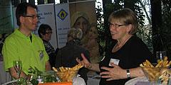 """Gute Gespräche bei der """"Messe weiblich"""" in Geislingen (Foto: Team SbFuM)"""