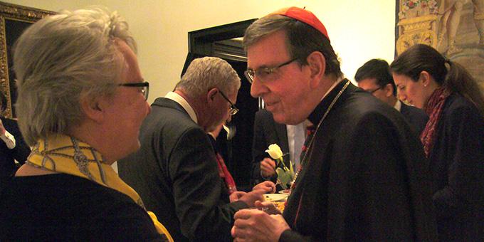 Annette Schavan und Kardinal Kurt Koch im Gespräch (Foto: Hilser)