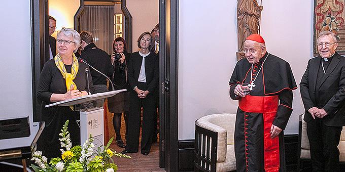 Die deutsche Botschafterin beim Vatikan, Annette Schavan, gab ebenfalls einen Empfang zu Ehren des neuen Kardinals aus Deutschland (Foto: Kiderle)