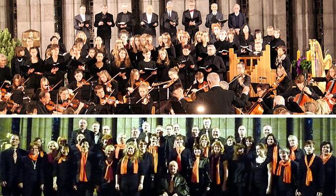 Chöre zu Gast bei der Geistlichen Abendmusik im Schönstatt-Zentrum Liebfrauenhöhe (Foto: Niestroj)