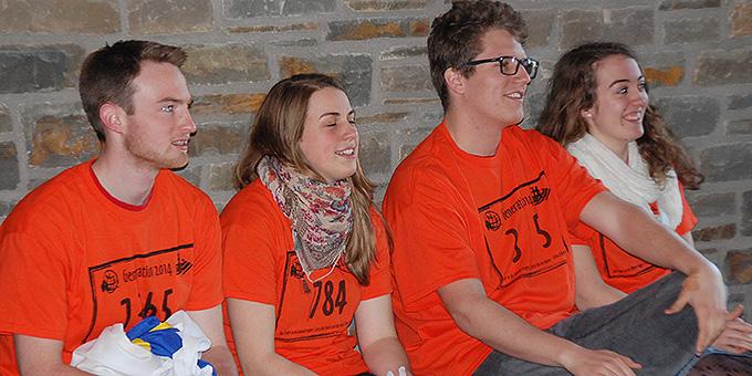 Einige der Teilnehmer aus der Schönstatt-Jugend. Lukas Jall, 2.v.r. (Foto: Brehm)